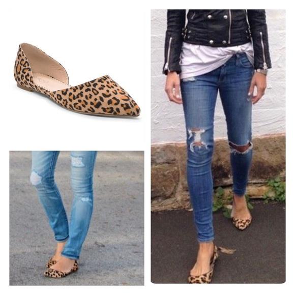 Shoes - Vegan Suede Leopard Flats, Red Flats, Black Flats